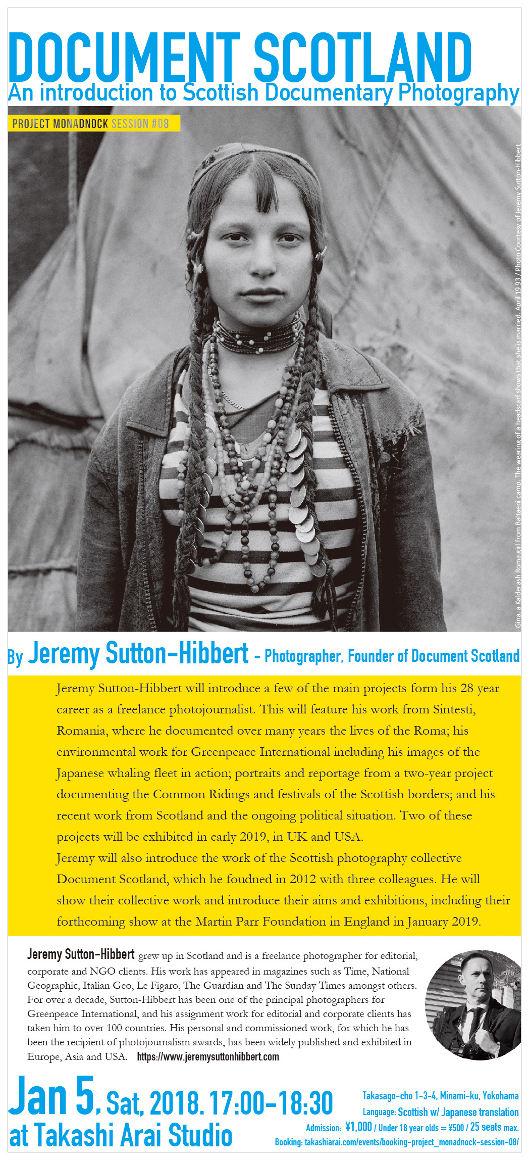 "Project Monadnock - Session #08: Jeremy Sutton-Hibbert ""Document Scotland - An introduction to Scottish Documentary Photography"""