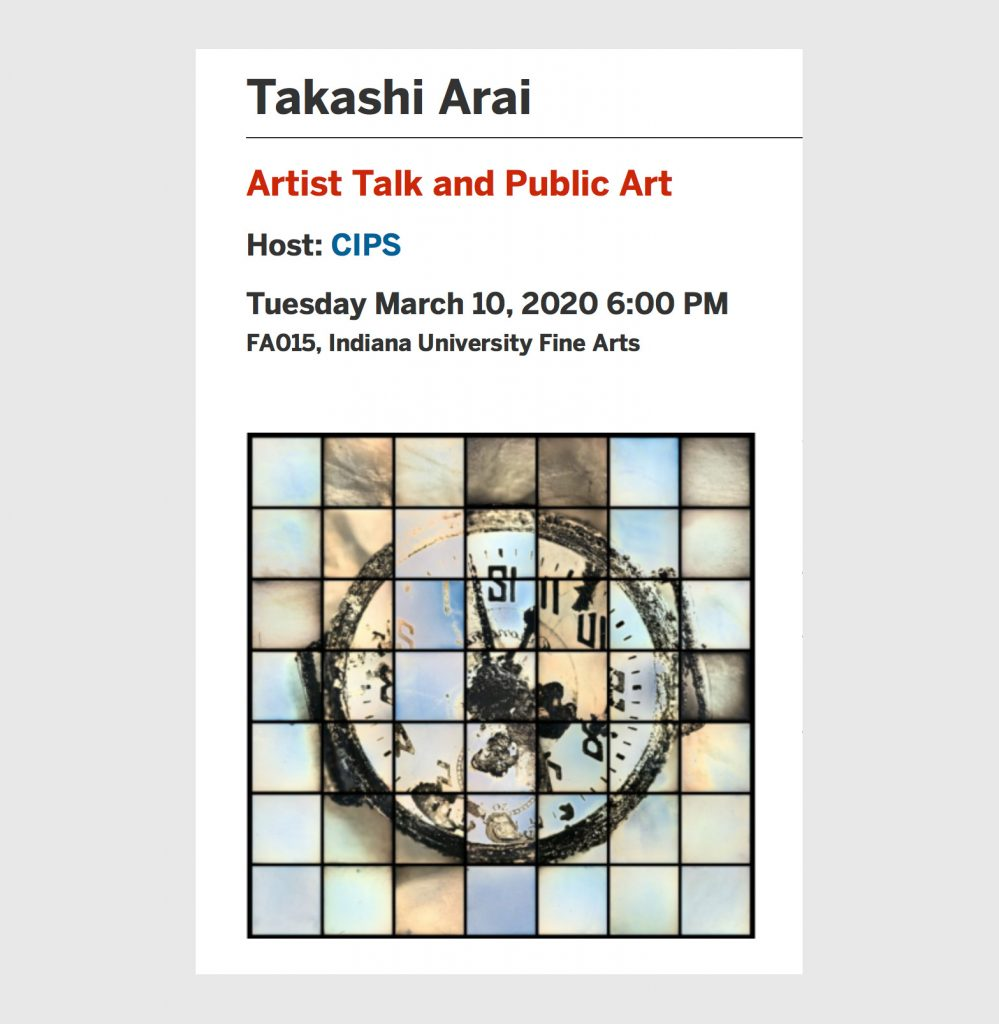 Artist Talk and Public Art @ Indiana University