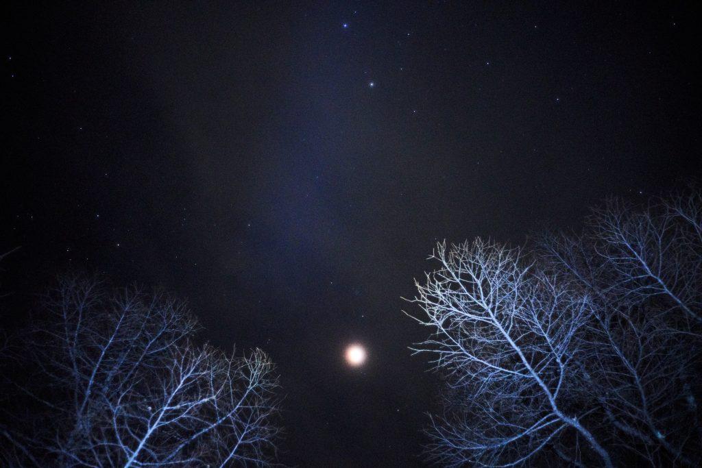 2018-02-01, After the lunar eclipse, Shirakoma, Tateshina