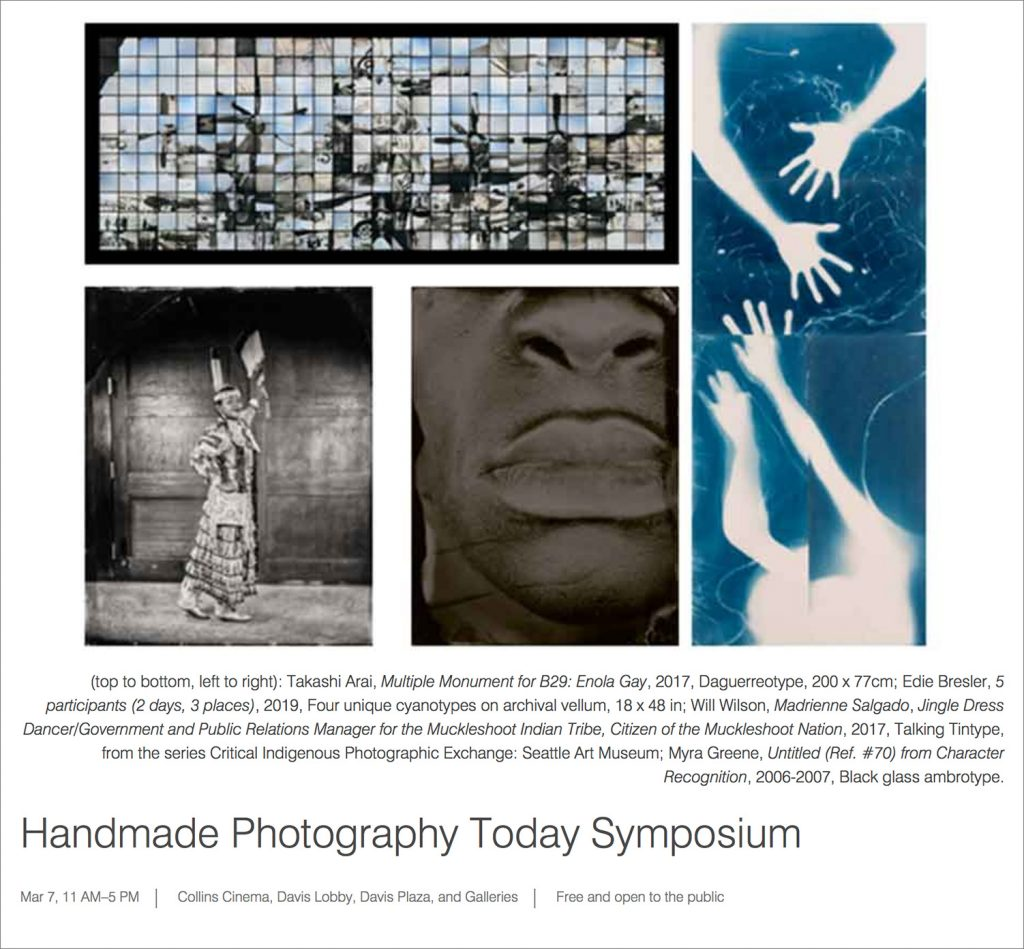 March 7th, 2020 - Handmade Photography Today Symposium @ Davis Museum, Wellesley College